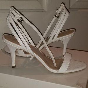 White  heels Sandals